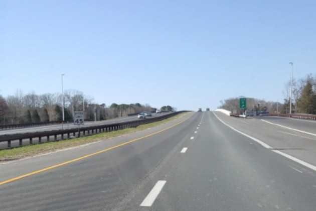 45MPH Speed Limit Sign on the Garden State Parkway in Middle Township - Photo: Chris Coleman/Townsquare Media